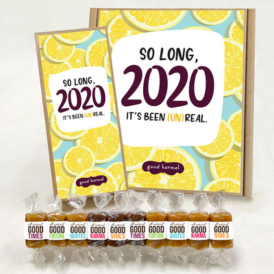 So long 2020, it's been unreal - all-natural caramel gift box
