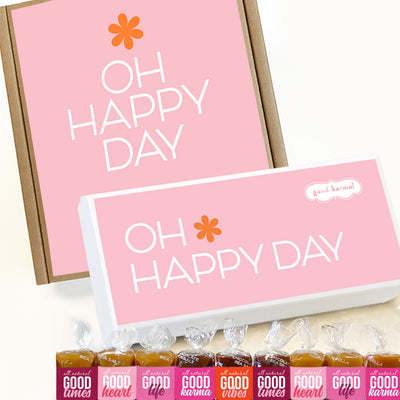 Oh Happy Day All-natural Caramel Candy Birthday, Anniversary Gifts for Her.