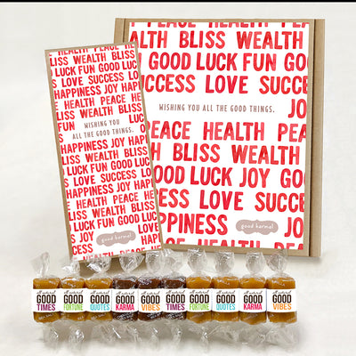 Red Letter Day good karma caramel gift box