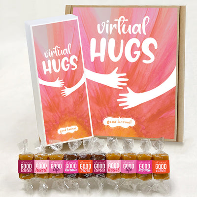 Virtual Hugs caramel candy gift box for difficult times