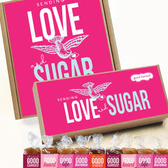 Love & Sugar Valentine's Day caramel candy gift boxes