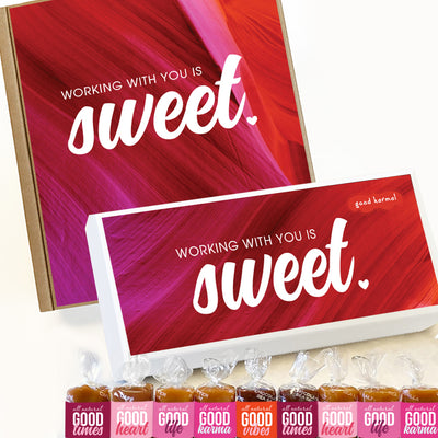 Caramel candy wrapped in quotes Valentine's Day gift for business