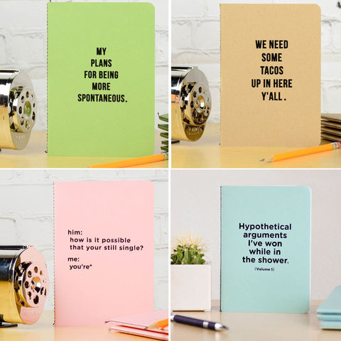 Letter Pressed Notebooks / Journals
