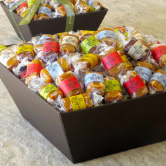 Good Karmal's all-natural, luxe caramel gift basket with encouraging quotes.