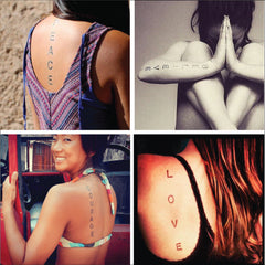 Conscious Ink Oversized Temporary Tattoos