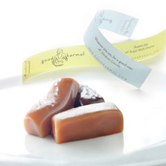 Good Karmal, all-natural, gourmet caramel gifts wrapped in positive quotes.