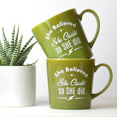 Spring Caramel + Ceramic Mug (She Believed)