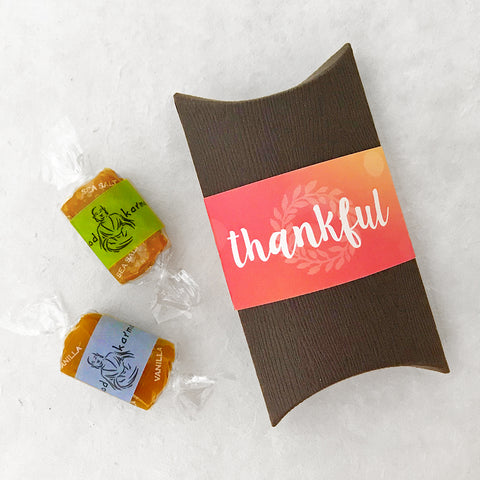 LIMITED! Thankful Caramel Favors (set of 10)