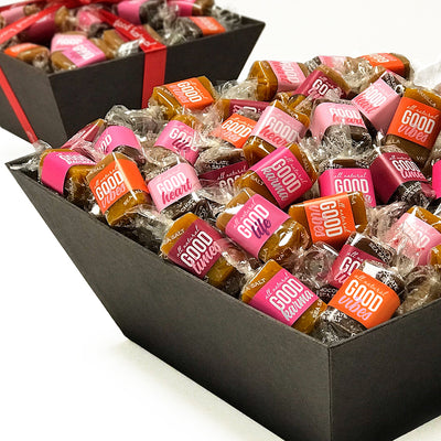 All-natural caramel gift baskets for Valentine's Day