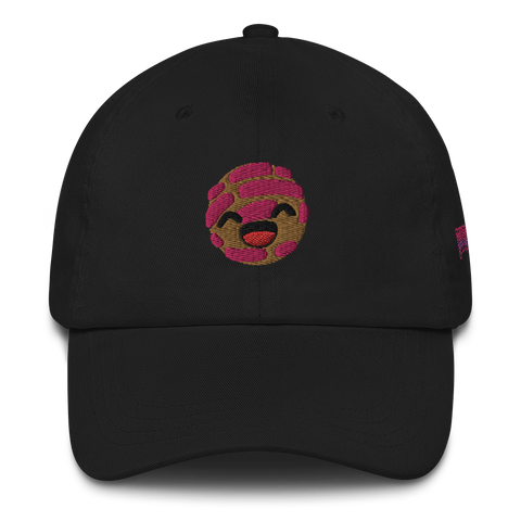 Pink Concha Dad Hat [Black Hat]