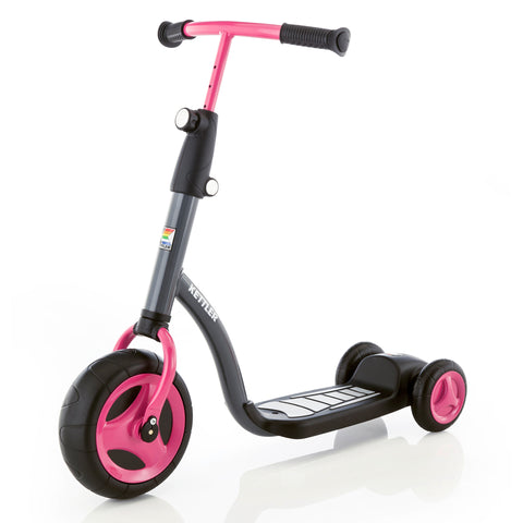 KETTLER Kid's Scooter - black / pink | German Toy Store