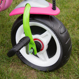 PUKY CAT 1S Tricycle - pink / green - front wheel