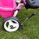 PUKY CAT 1S Tricycle - pink / green - rear wheel with brake