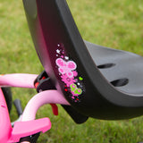PUKY CAT 1S Tricycle - pink / green - push pole