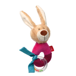 sigikid Grasp Ring Bunny - Red Stars