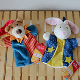 sigikid Magician Bunny Hand Puppet & Punch Bear Hand Puppet | Plush Toys | German Toy Store