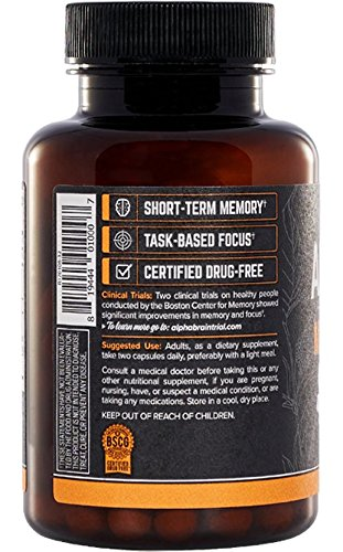 Onnit Alpha Brain: Clinically Studied Nootropic for Memory, Focus, and Mental Clarity (30ct) - Sauté