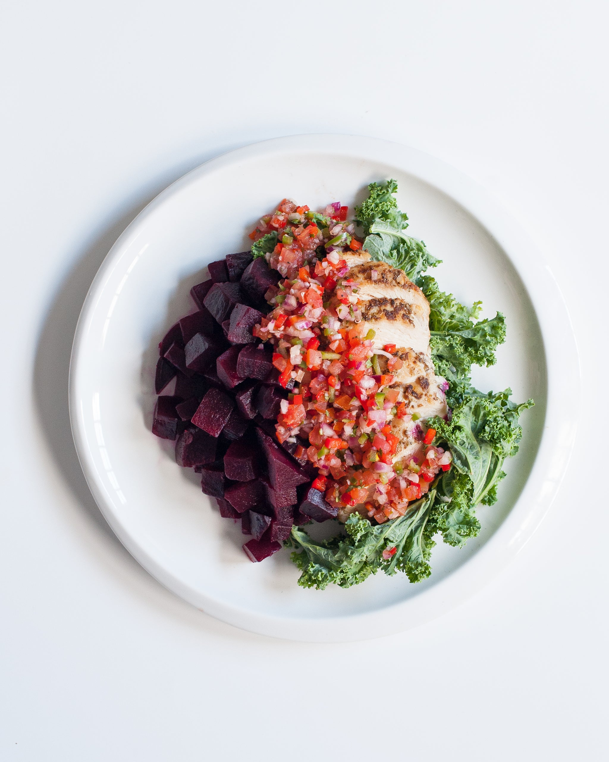 Chicken & Veggies with Tomato Salsa (P) - Sauté