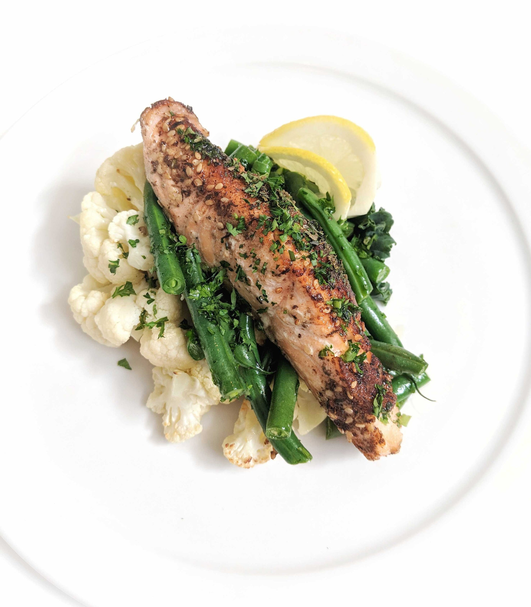 Salmon, Green Beans and Cauliflower (C) - Sauté