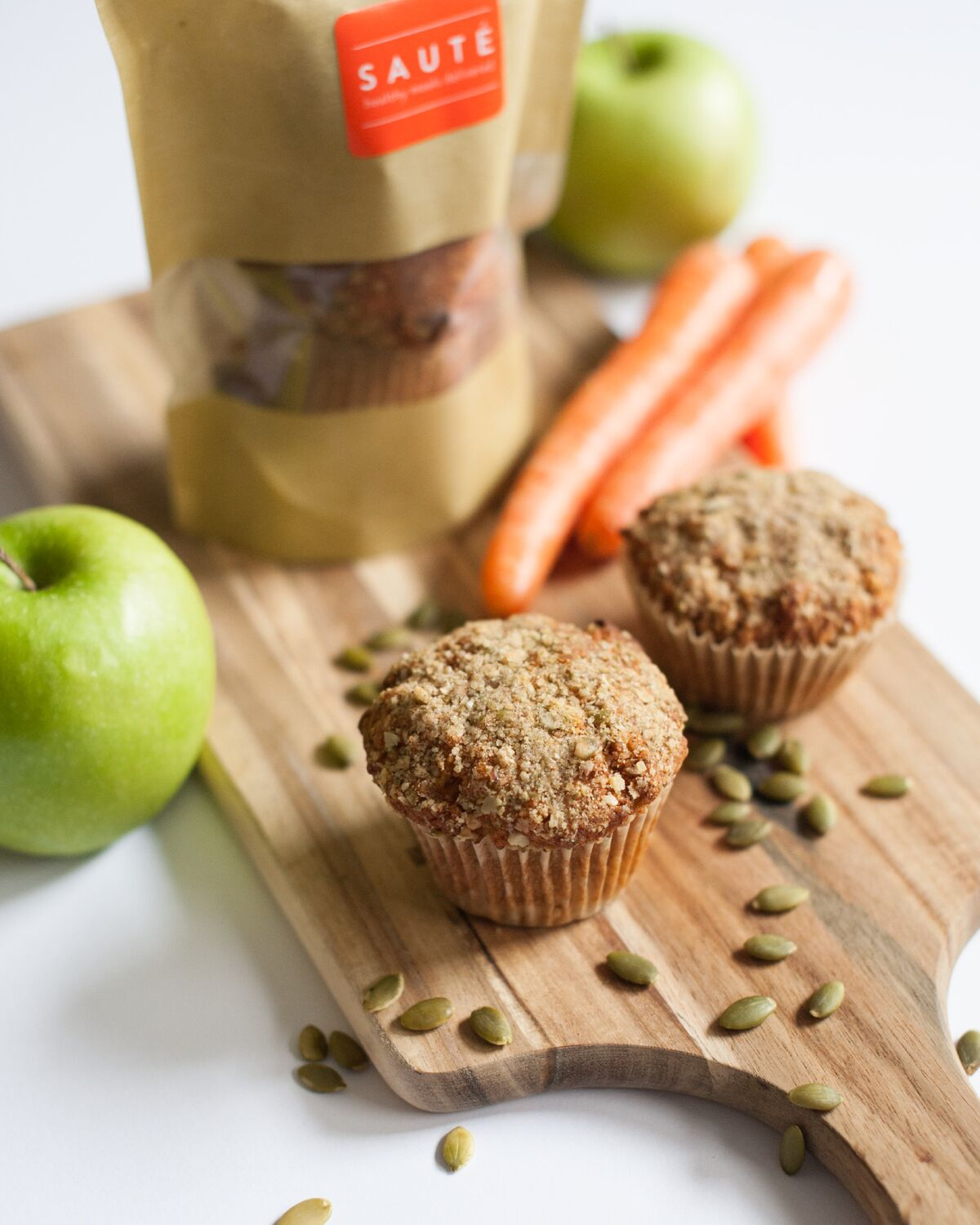 Carrot & Apple Muffins - 4 Pack - Sauté