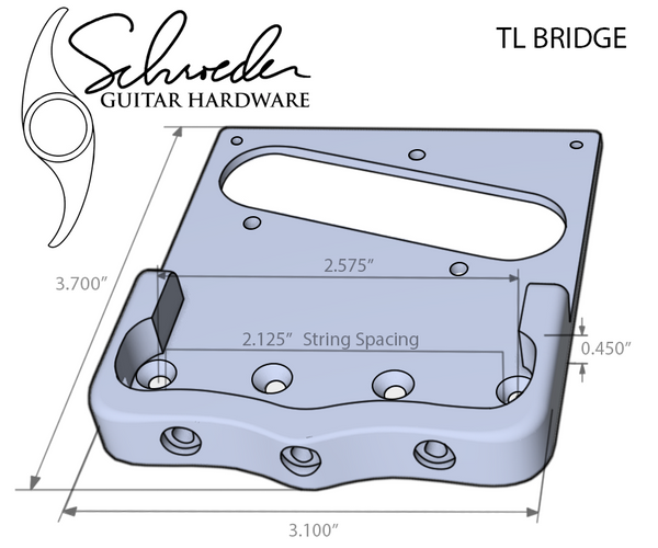 Schroeder TL Bridge for Bigsby (tele style)