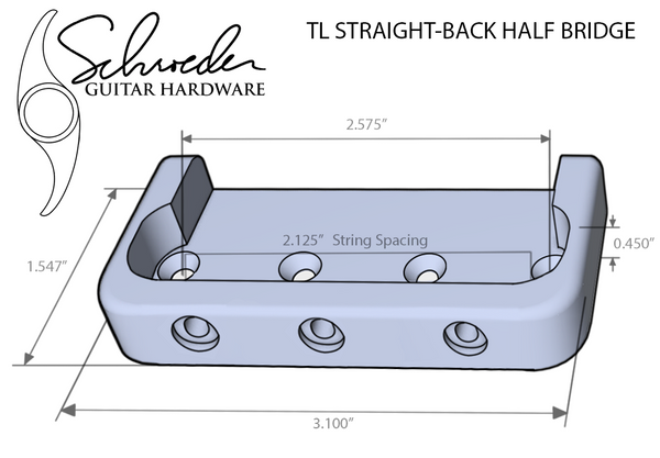 Schroeder TL Straight-Back Top Load Half Bridge