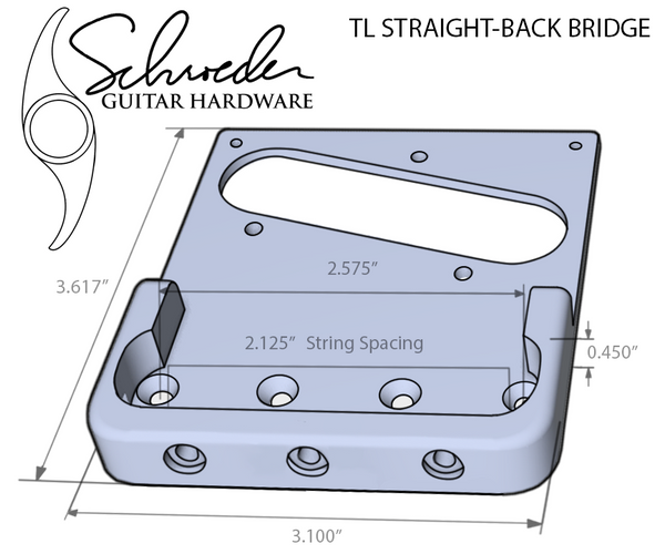 Schroeder TL Straight-Back Bridge (for tele style)