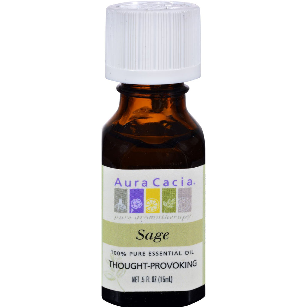 Aura Cacia Essential Oil Sage - 0.5 fl oz