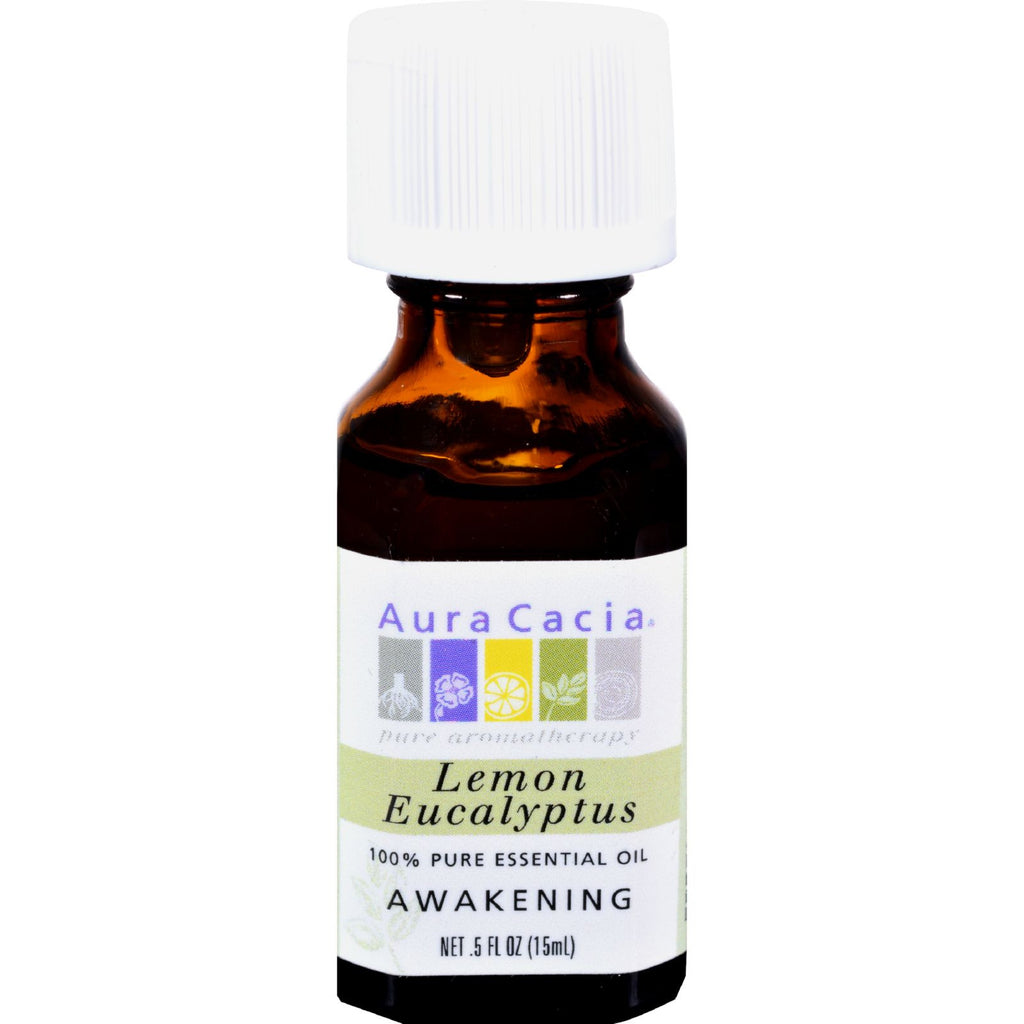 Aura Cacia 100% Pure Essential Oil Lemon Eucalyptus - 0.5 fl oz
