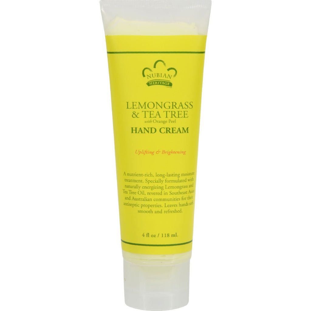 Nubian Heritage Hand Cream Lemongrass And Tea Tree - 4 oz