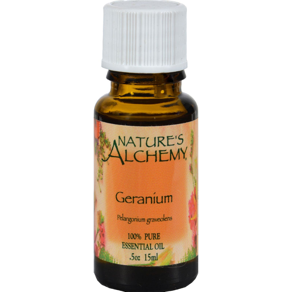Nature's Alchemy 100% Pure Essential Oil Geranium - 0.5 fl oz