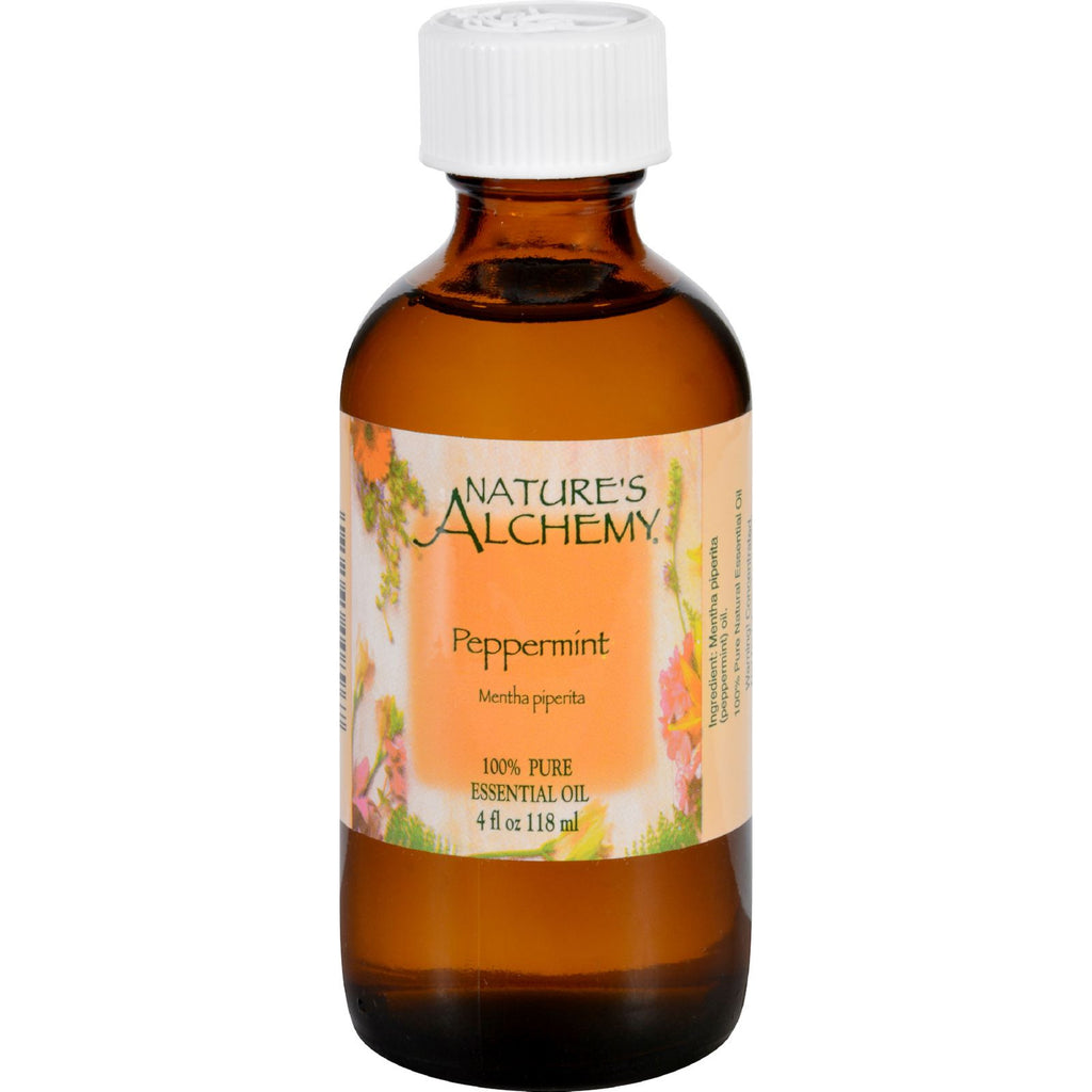 Nature's Alchemy Essential Oil - 100 Percent Pure - Peppermint - 4 fl oz