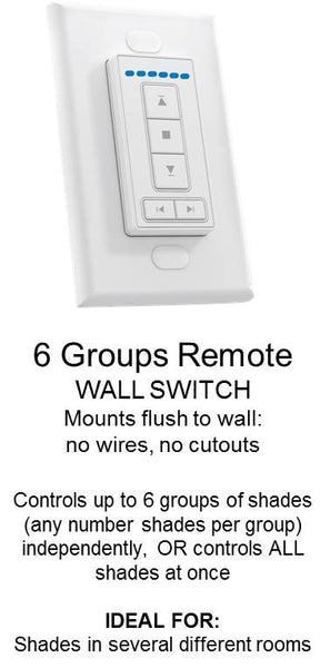 6 group Wall Switch