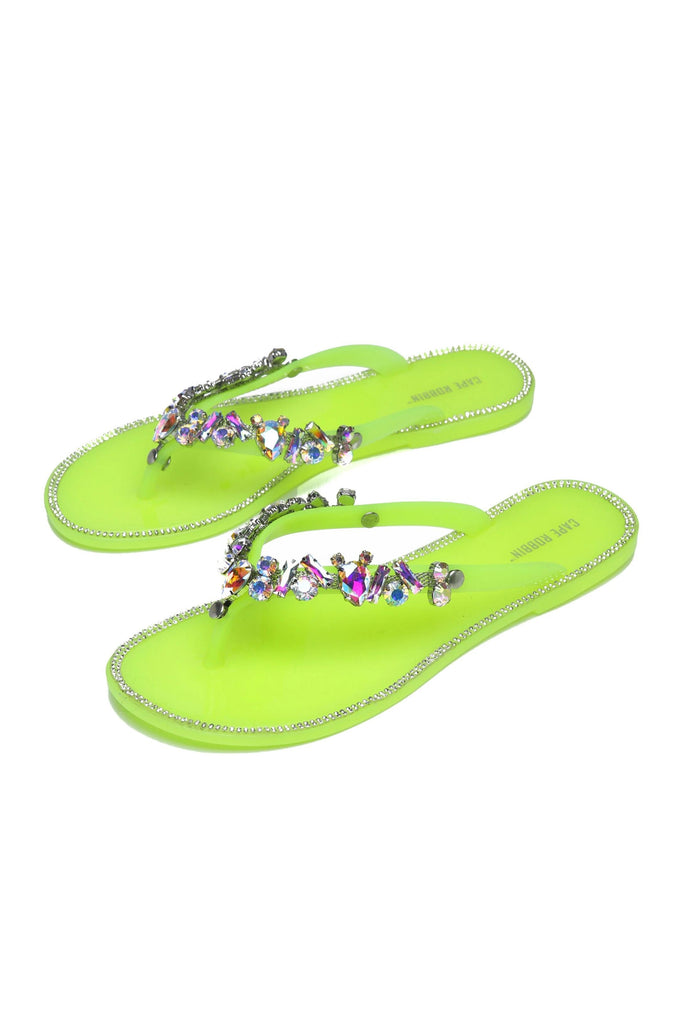 BELLAGIO JELLY SANDAL-LIME