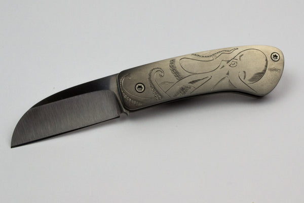 Hyrax Folder with Octopus engraving
