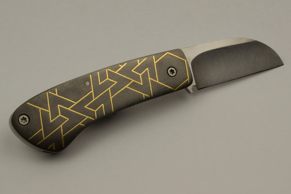 Hyrax Folder with 24k Gold Geometric Inlay