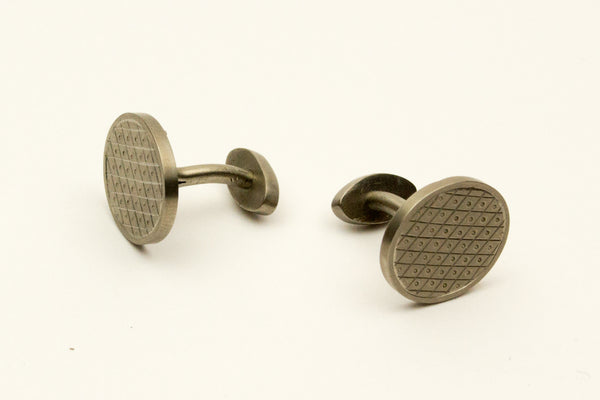 "Titanium cufflinks ""Quilted Pattern"""