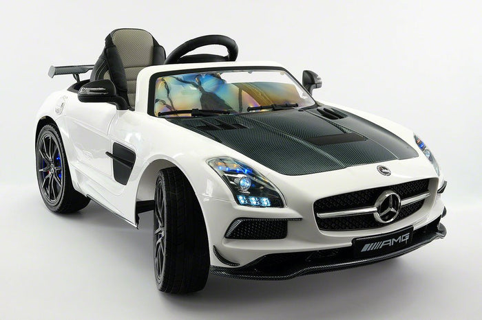 2018 MERCEDES SLS AMG 12V RIDE-ON CAR WITH PARENTAL REMOTE WHITE