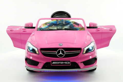 2017 Mercedes CLA45 Kids 12V Electric Ride-On Car Toy MP3 USB Player LED Body Kit Parental RC|Pink
