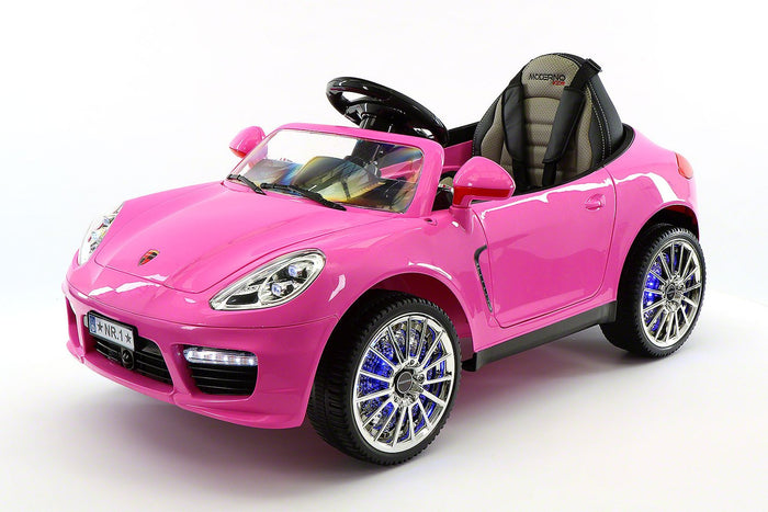 2018 PORCHE BOKSTER 12V BATTERY OPERATED KIDS ELECTRIC RIDE-ON CAR PINK