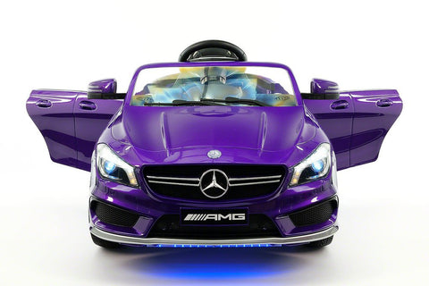 2017 Mercedes CLA45 Kids Electric Ride-On Car MP3 USB Player LED Body Kit Parental RC| Purple Metallic