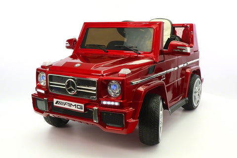 2017 Mercedes G65 Kids Ride-On Car MP3 12V Battery Powered Wheels Parental R/C | Red Metallic