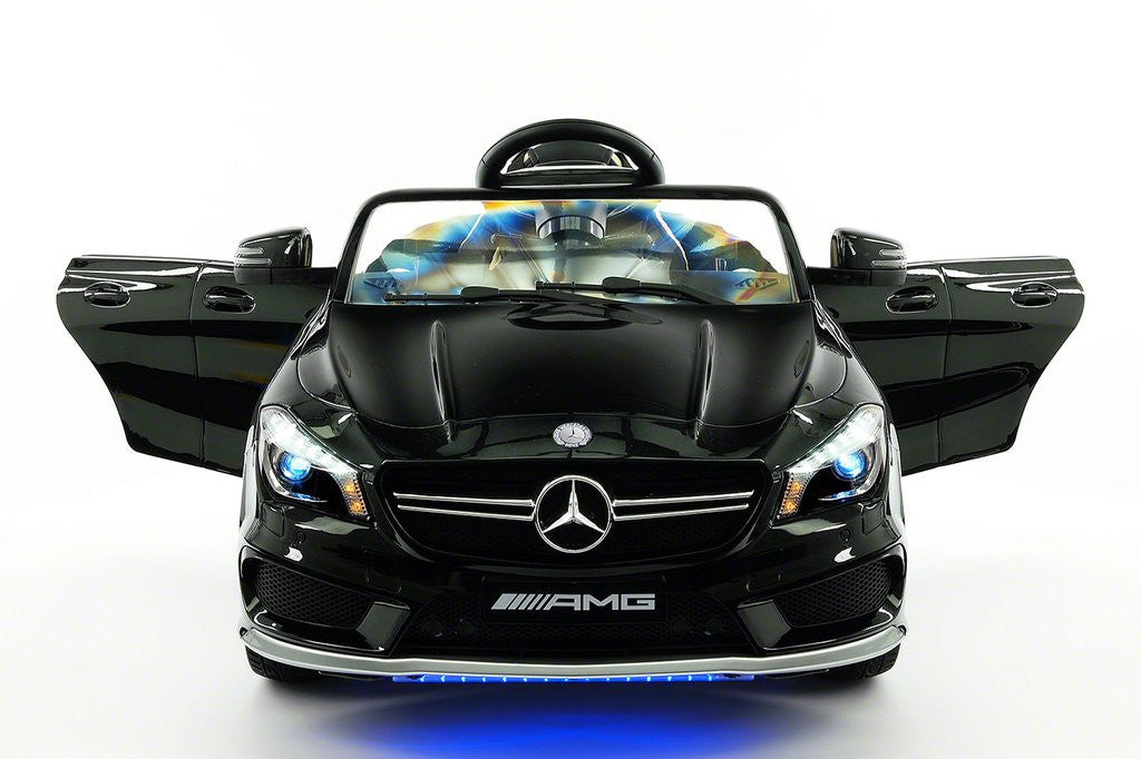 2017 Mercedes CLA45 Kids Electric Ride-On Car MP3 USB Player LED Body Kit Parental RC|Black Metallic