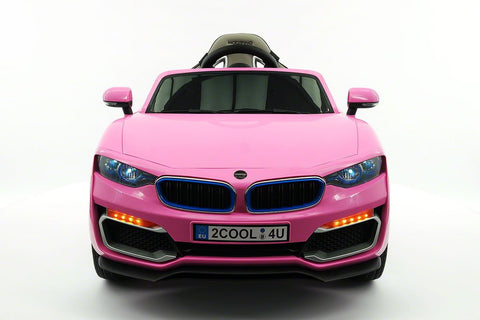 2017 BMW Racer Style Kids Electric Ride-On Car 12V Power Wheels Leather Seats Parental Remote | Pink