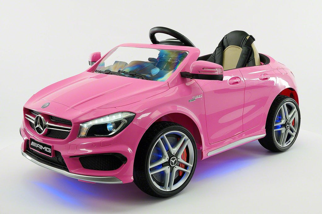 2017 mercedes cla45 kids 12v electric ride on car toy mp3 for Pink mercedes benz power wheels