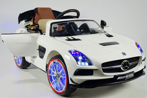 2017 Mercedes SLS Final Edition Kids Ride-On Car MP4 Color LCD 12V Powered Wheels Remote R/C | White