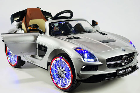 2017 Mercedes SLS Final Edition Kids Ride-On Car MP4 Color LCD 12V Powered Wheels Remote R/C | Silver