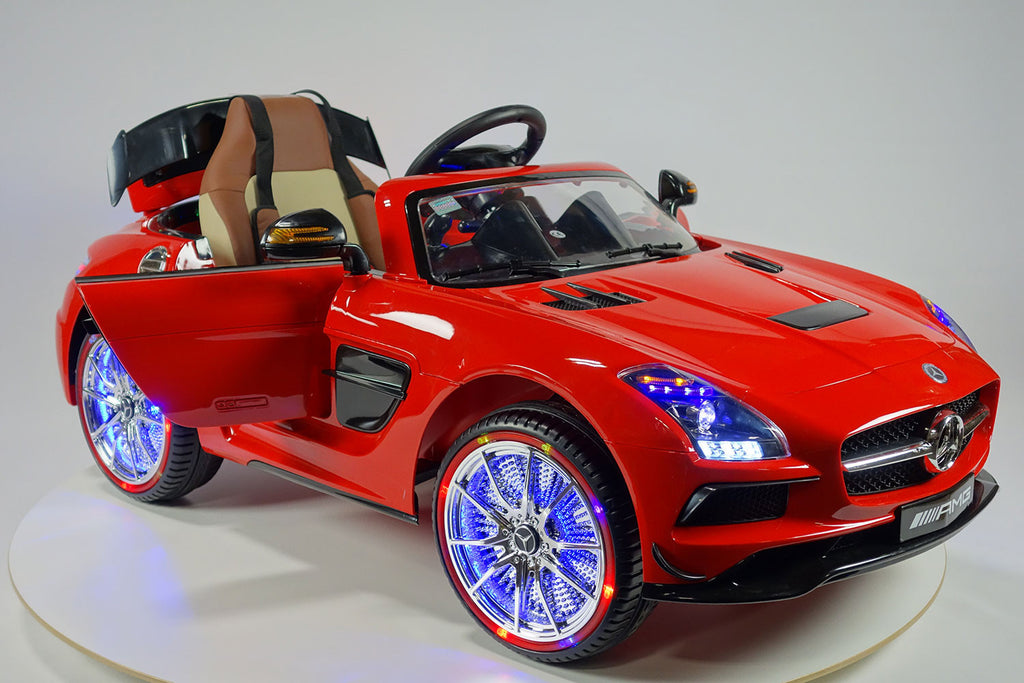 2017 Mercedes SLS Final Edition Kids Ride-On Car MP4 Color LCD 12V Powered Wheels Remote R/C | Red