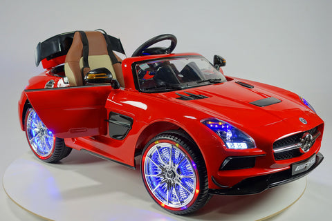 2017 Mercedes SLS | 12V | Kids Ride-On Car | USB MP3 | LED Headlights  | RC | Parental Remote | Red
