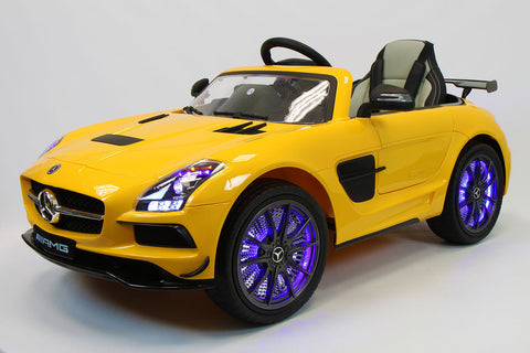 2017 Mercedes SLS Final Edition Kids Ride-On Car MP4 Color LCD 12V Powered Wheels Remote R/C | Yellow